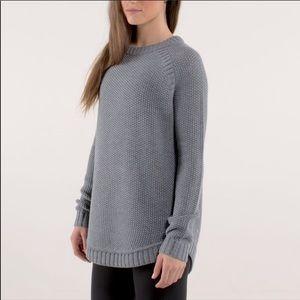 Lululemon Passage Gray Knit Merino Wool Sweater